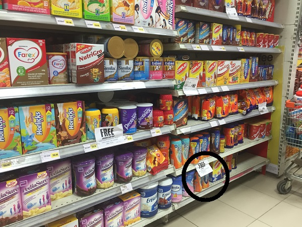 out of stock tesco horlicks visibility