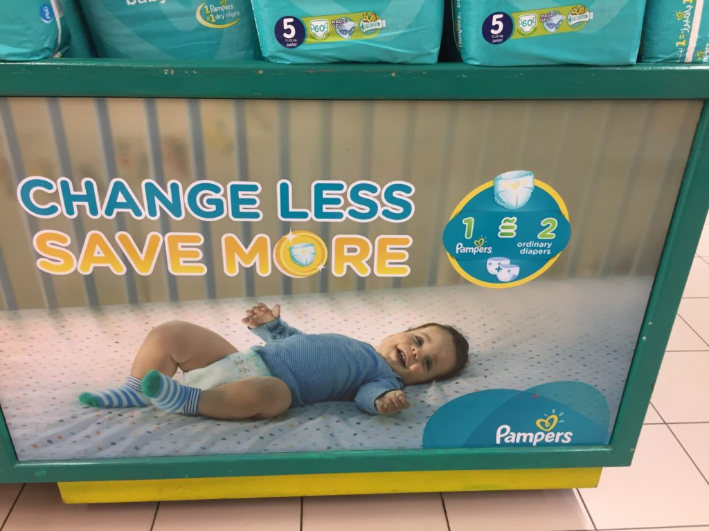in-store messaging in-store communication p&G pampers